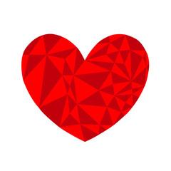 cuore grafico rosso vettoriale sfondo bianco