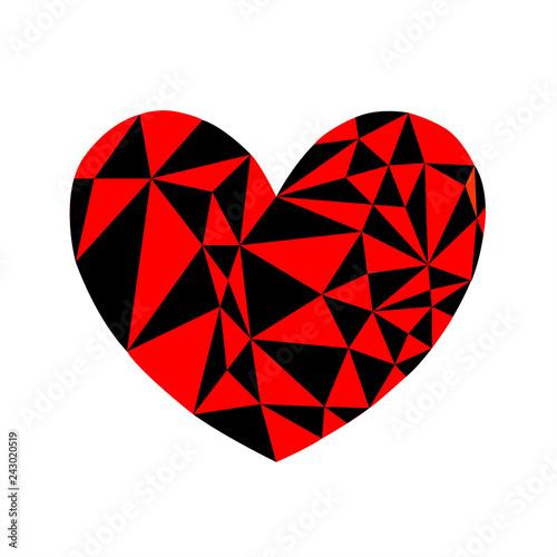 Cuore Grafico Rosso Vettoriale Sfondo Bianco Stock Image And