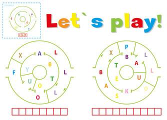 Play and write the words football and basketball