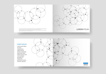 Connect circle and dots background. Vector cover design template