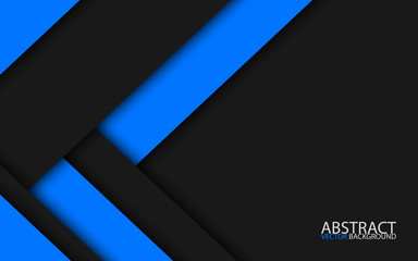 Black and blue modern material design, vector abstract widescreen background