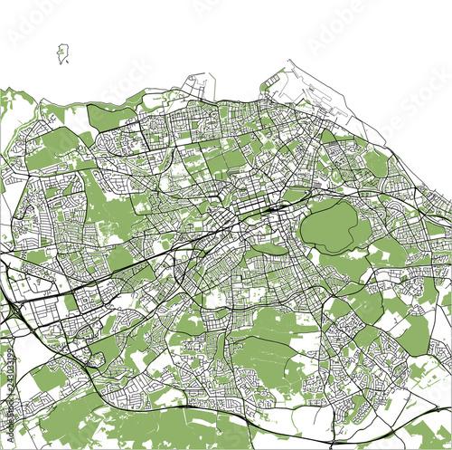 map of the city of Edinburgh, Scotland, United Kingdom\