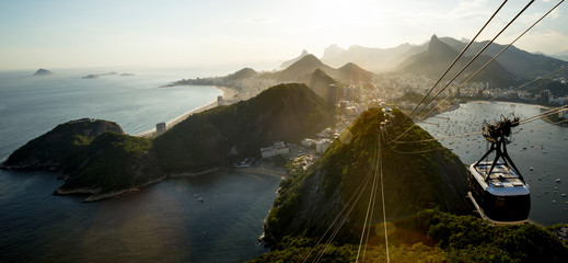 Panorama of Rio de Janeiro with Sugarloaf mountain, Brazil