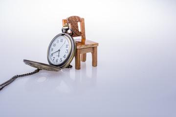 Mini chair retro style pocket watch