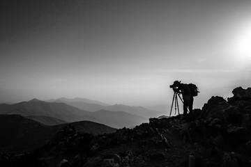 덕유산 일출 사진가와 풍경