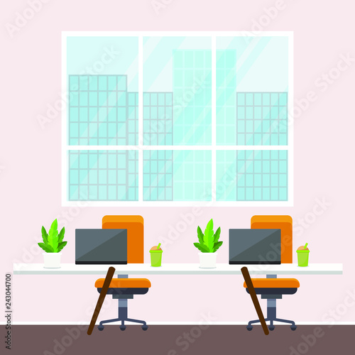 Office Background Vector Illustration Stock Image And Royalty Free
