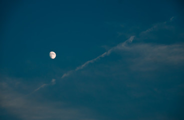 night sky with white moon