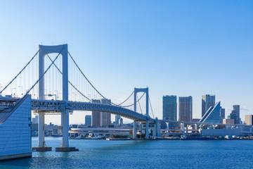 (東京都-都市風景)レインボーブリッジから望む竹芝桟橋側の風景4