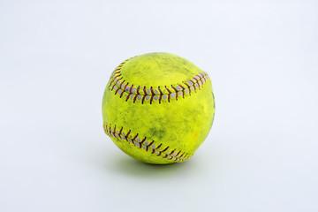 softball isolated on white background