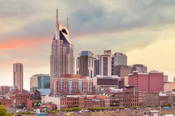 Fotomurales - Nashville, Tennessee downtown skyline