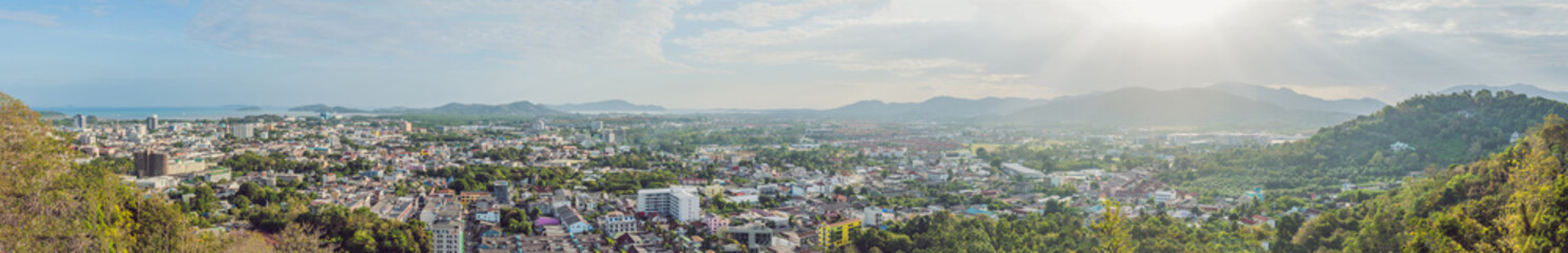 High view from Phuket View Point Rang Hill in Phuket Thailand