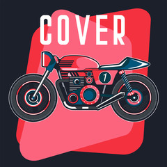 classic race motorcycle vector, logo classic motorcycle - Vector