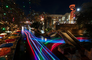 Night on the River Walk - San Antonio, Texas