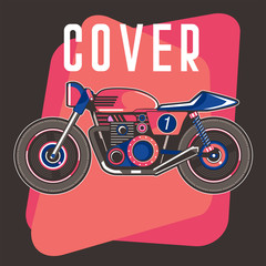 Vintage motorcycle poster - Vector