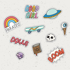Kawaii doodle set, can be use as fashion patch