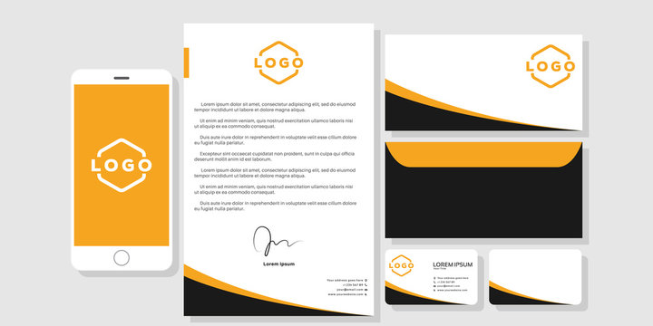 Stationery mockup design branding template