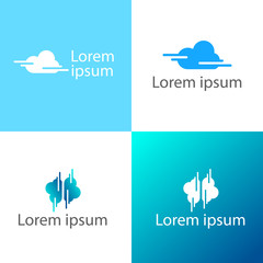 Cloud creative logo template vector illustration, icon elements
