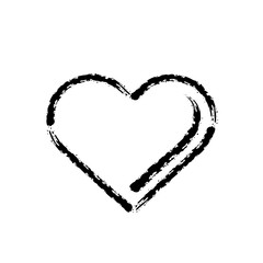 brush stroke hand drawn vector icon of love heart