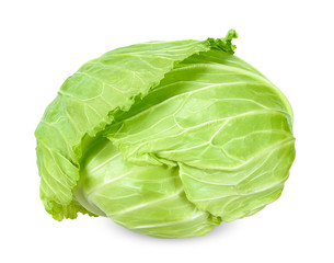 Cabbage isolated on white clipping path