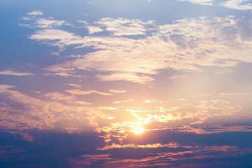 sky and cloud with sunrise