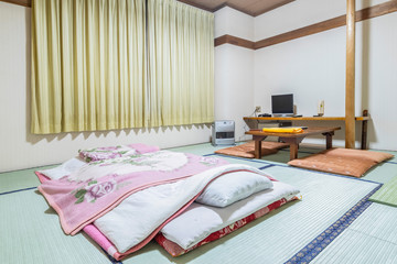 Japanese style bedroom in Japanese house