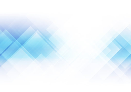 Abstract squares shape on blue background