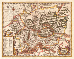 Old Map of Germany, Germania 1657, Jansson