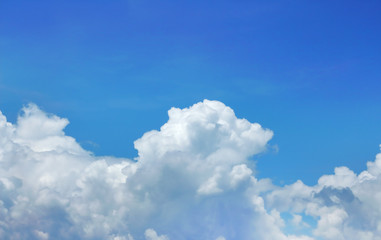 The nature of sky blue and white clouds background