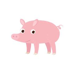 Cute cartoon image of an animal. Funny cute animal.