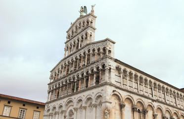 medieval Cathedral of San Michele of Lucca in Tuscany, Italy
