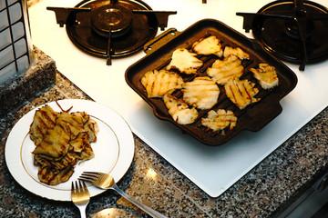 White king oyster mushroom preparation at home