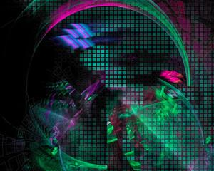 abstract digital fractal, fantasy party design