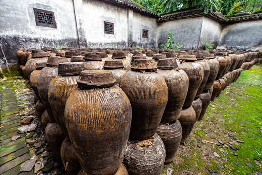 rice wine jar in wuzhen town