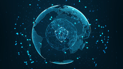 security global network Wall mural