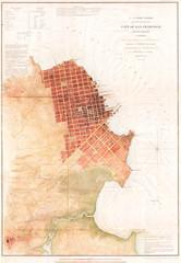 1853, U.S.C.S. Map of San Francisco, California and Vicinity