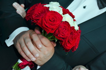 Groom and Bridal bouquet
