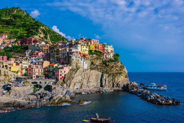 Poster Ligurie Picturesque town of Manarola, Liguria, Italy