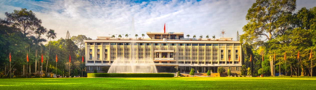 Independence Palace in Ho Chi Minh City, Vietnam. Panorama