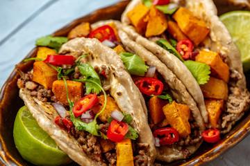 Hackfleisch Tacos Mexico