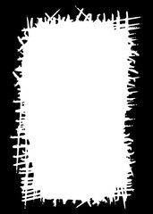 Abstract Decorative Black & White Edge. Type Text Inside, Use as Overlay or for Layer Mask