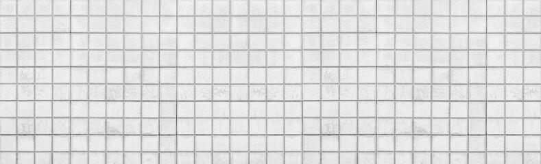 Panorama of white brick wall background seamless