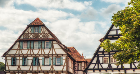 Tudor style houses at the monastery Maulbronn,Germany