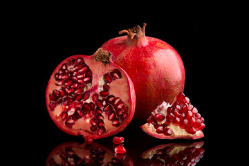 Pomegranate fruits.