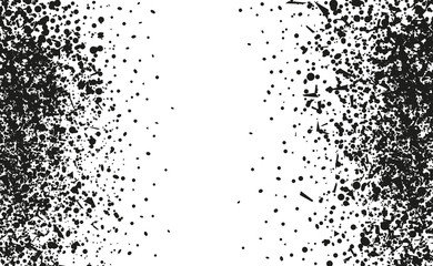 Confetti on isolated white background. Geometric grungy texture with glitters. Image for banners, posters and flyers. Greeting cards. Black and white illustration