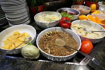 Essen bei Heurigen Restaurant in Wien