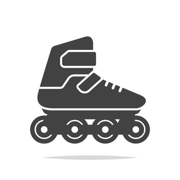 Inline skates icon vector isolated