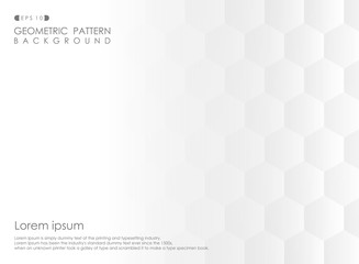 Abstract of pentagon geometric pattern gradient white background.