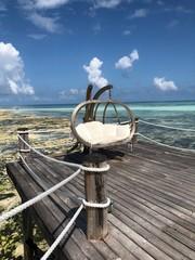 hammock in the ocean of tanzania