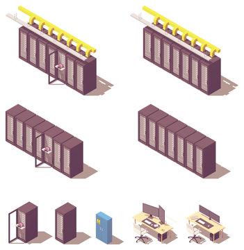 Vector isometric server equipment