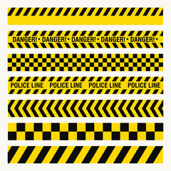 black yellow ribbons, danger baricade, police crime